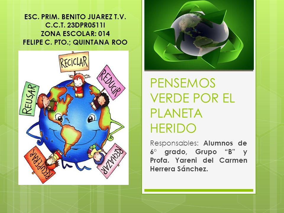 PENSEMOS VERDE POR EL PLANETA HERIDO