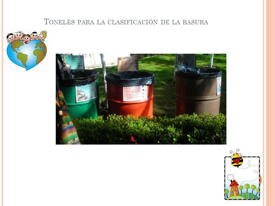 Toneles para la clasificación de la basura
