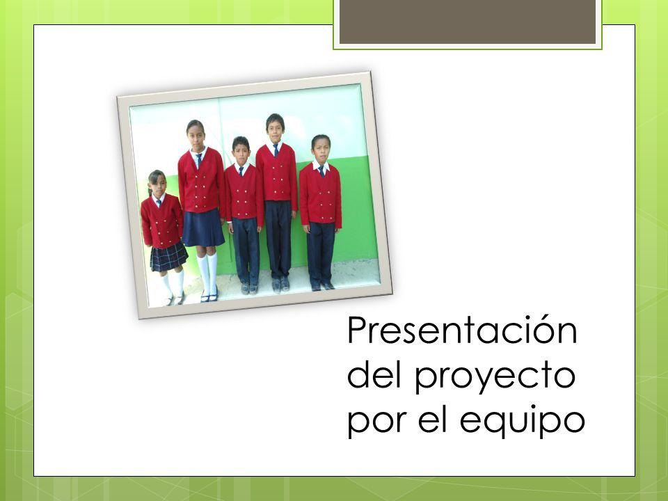 Presentación del proyecto por el equipo