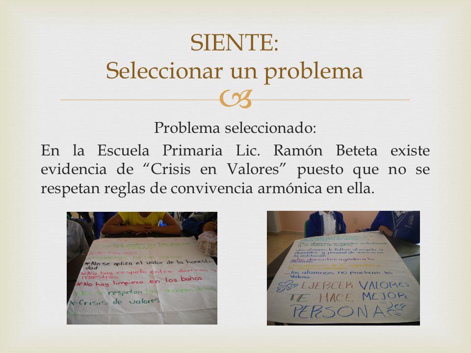 SIENTE: Seleccionar un problema