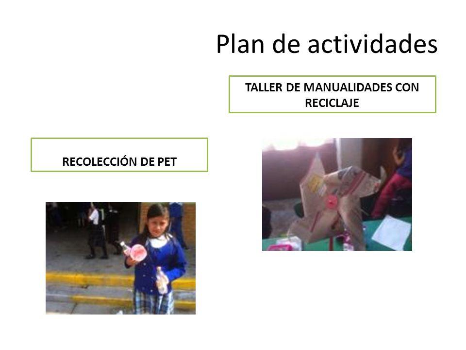 TALLER DE MANUALIDADES CON RECICLAJE