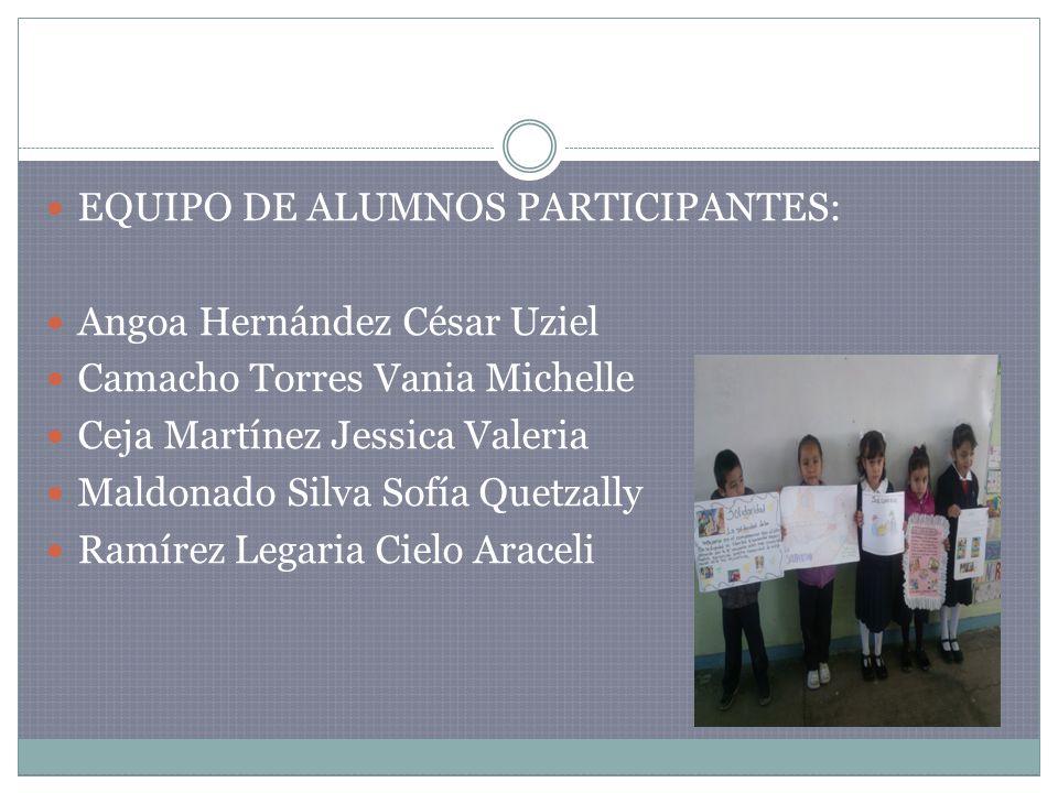 EQUIPO DE ALUMNOS PARTICIPANTES: