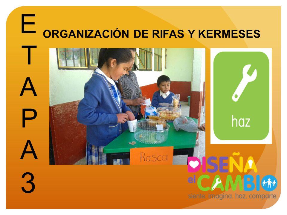 ETAPA 3 ORGANIZACIÓN DE RIFAS Y KERMESES