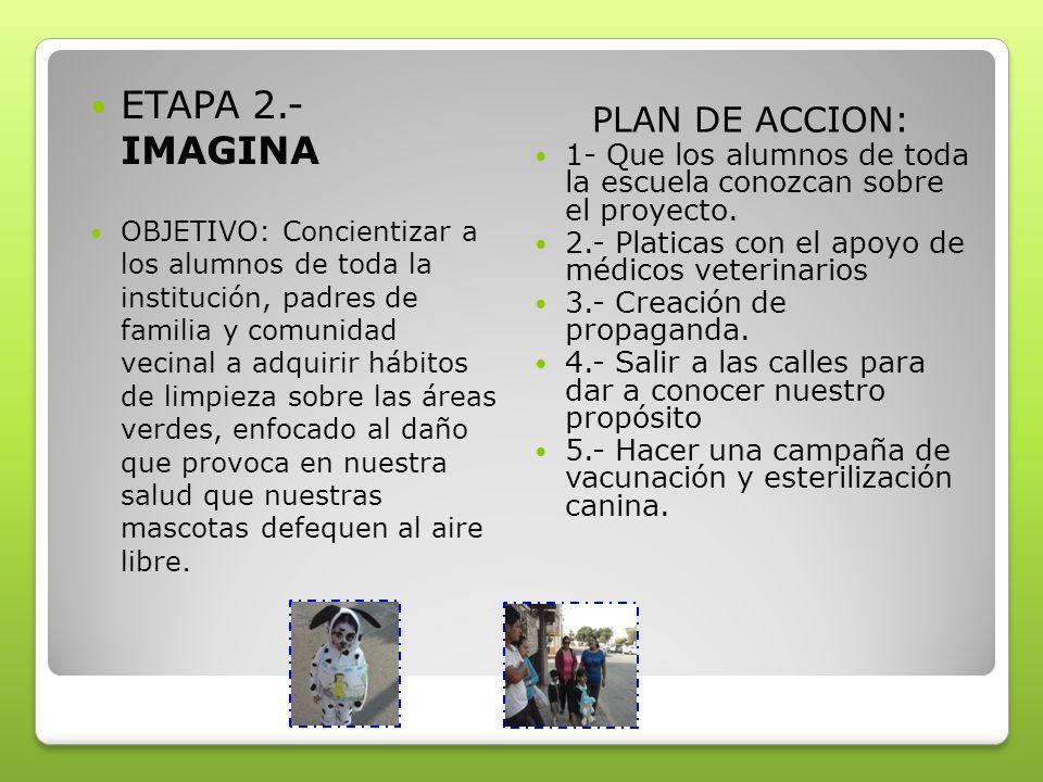 ETAPA 2.- IMAGINA PLAN DE ACCION: