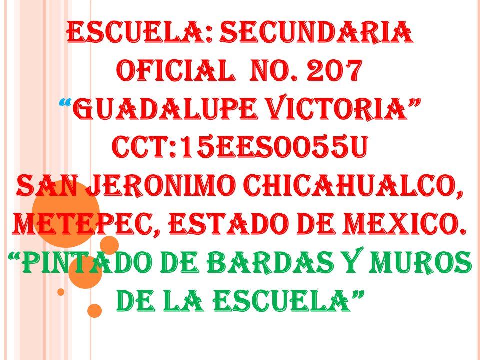ESCUELA: SECUNDARIA OFICIAL NO
