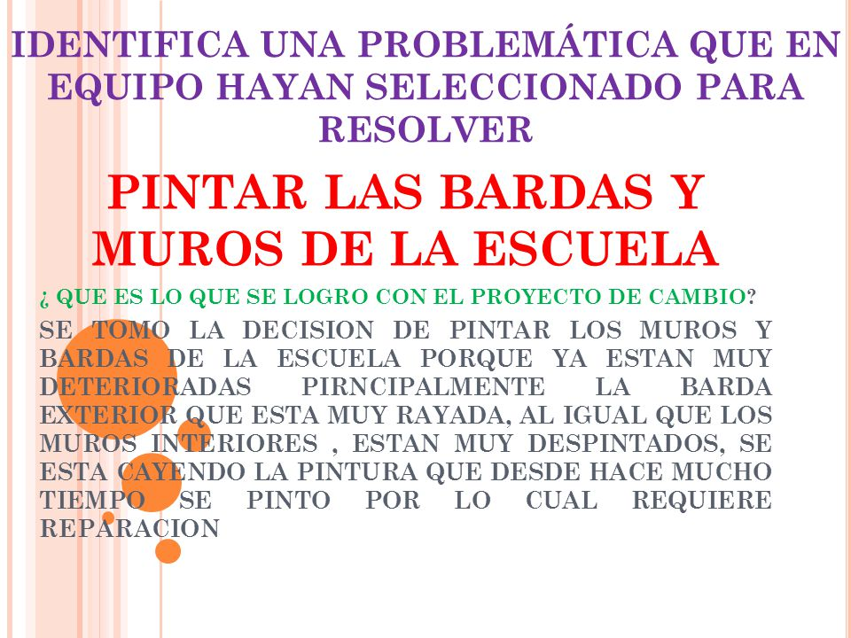 PINTAR LAS BARDAS Y MUROS DE LA ESCUELA