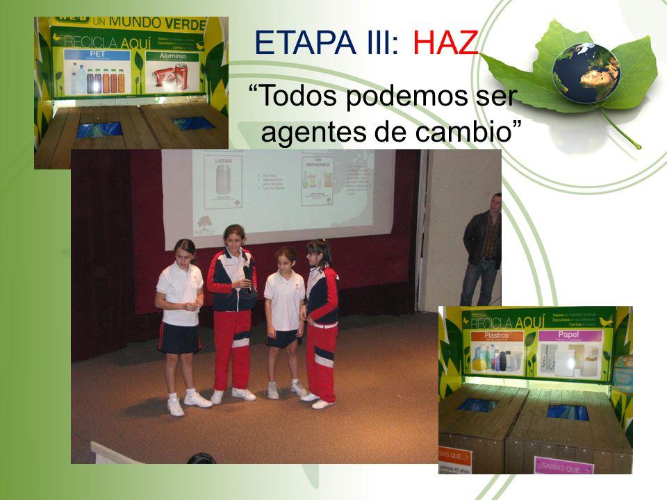 ETAPA III: HAZ Todos podemos ser agentes de cambio