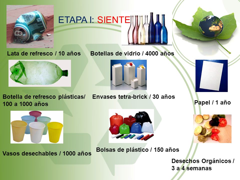 ETAPA I: SIENTE Lata de refresco / 10 años