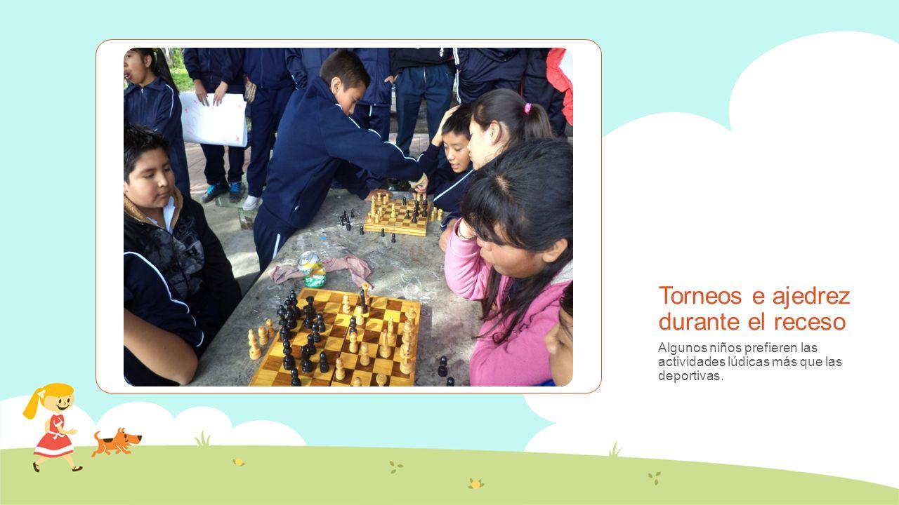 Torneos e ajedrez durante el receso