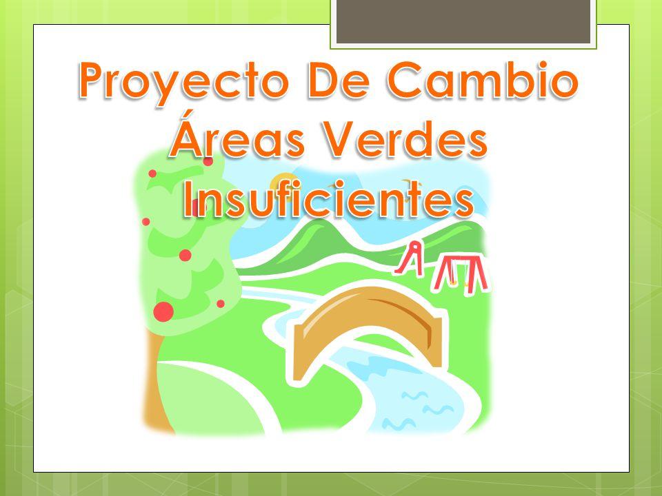Proyecto De Cambio Áreas Verdes Insuficientes