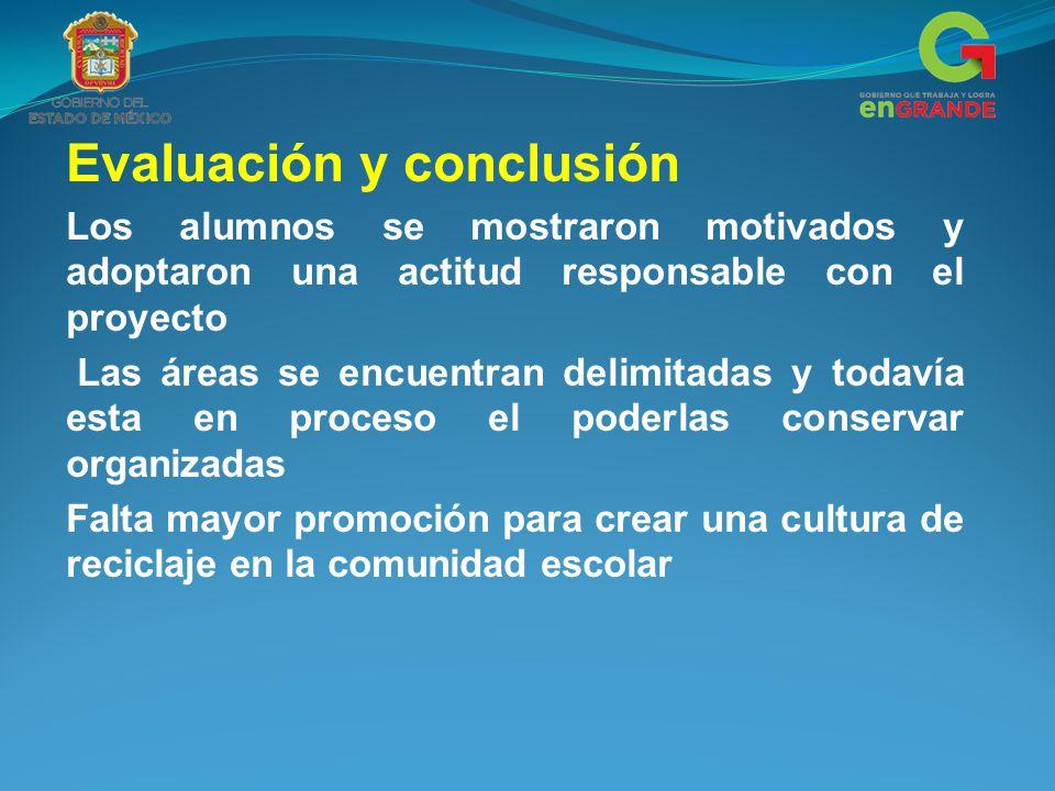 Evaluación y conclusión