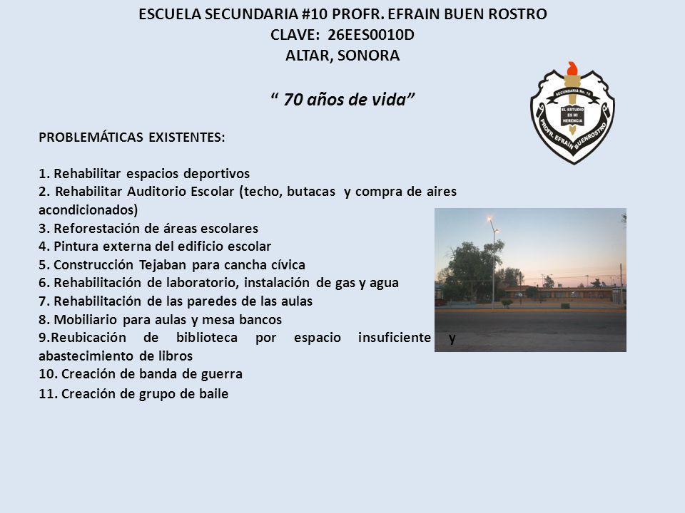 ESCUELA SECUNDARIA #10 PROFR