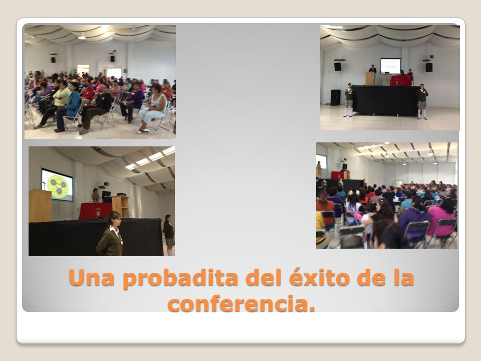 Una probadita del éxito de la conferencia.