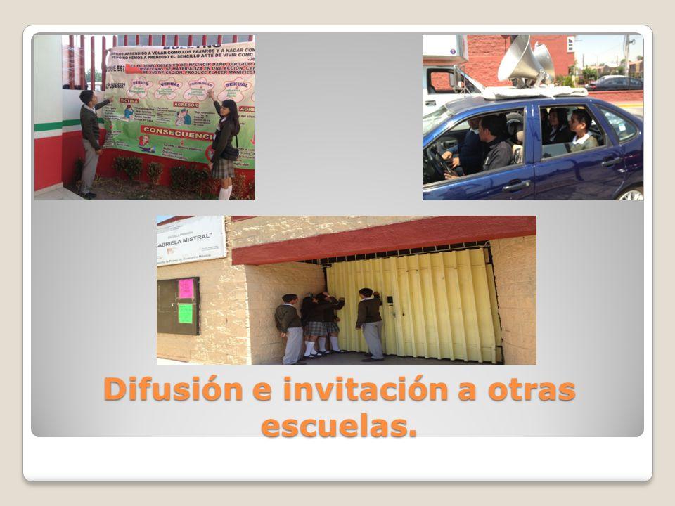 Difusión e invitación a otras escuelas.