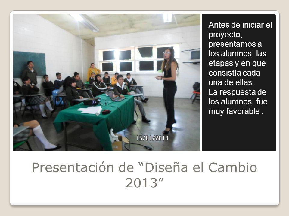 Presentación de Diseña el Cambio 2013
