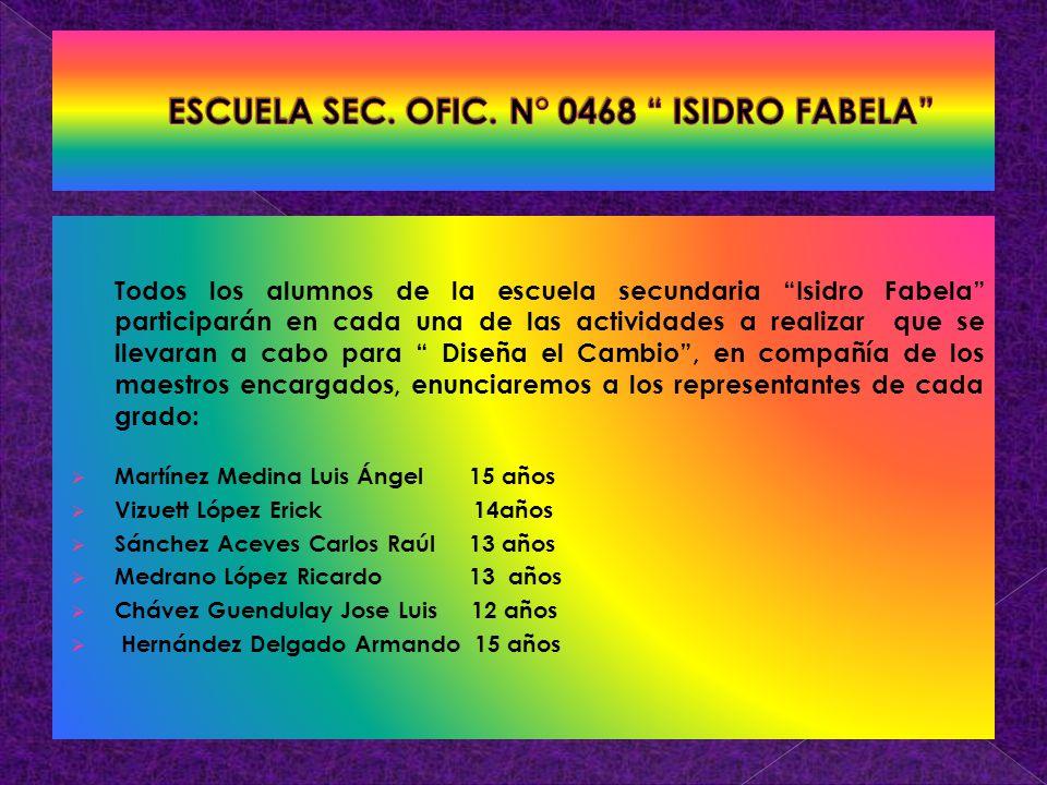 ESCUELA SEC. OFIC. N° 0468 ISIDRO FABELA