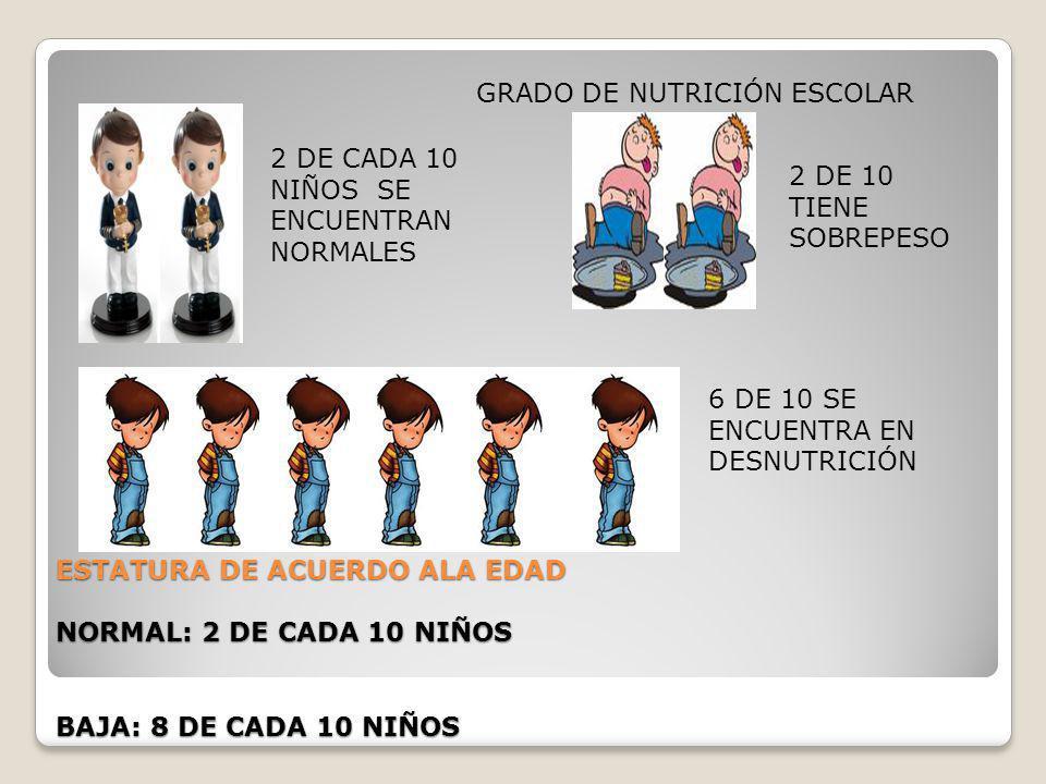 GRADO DE NUTRICIÓN ESCOLAR