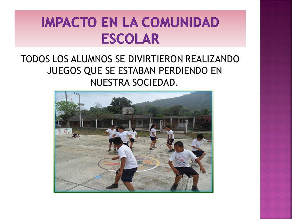 IMPACTO EN LA COMUNIDAD ESCOLAR