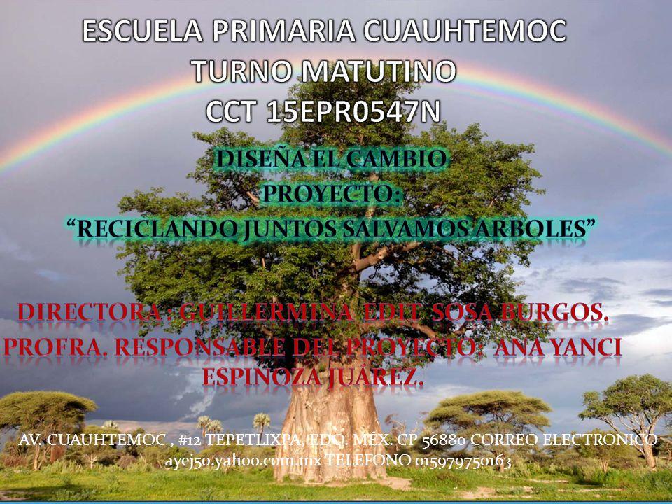 ESCUELA PRIMARIA CUAUHTEMOC TURNO MATUTINO CCT 15EPR0547N