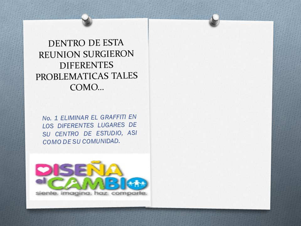 DENTRO DE ESTA REUNION SURGIERON DIFERENTES PROBLEMATICAS TALES COMO…