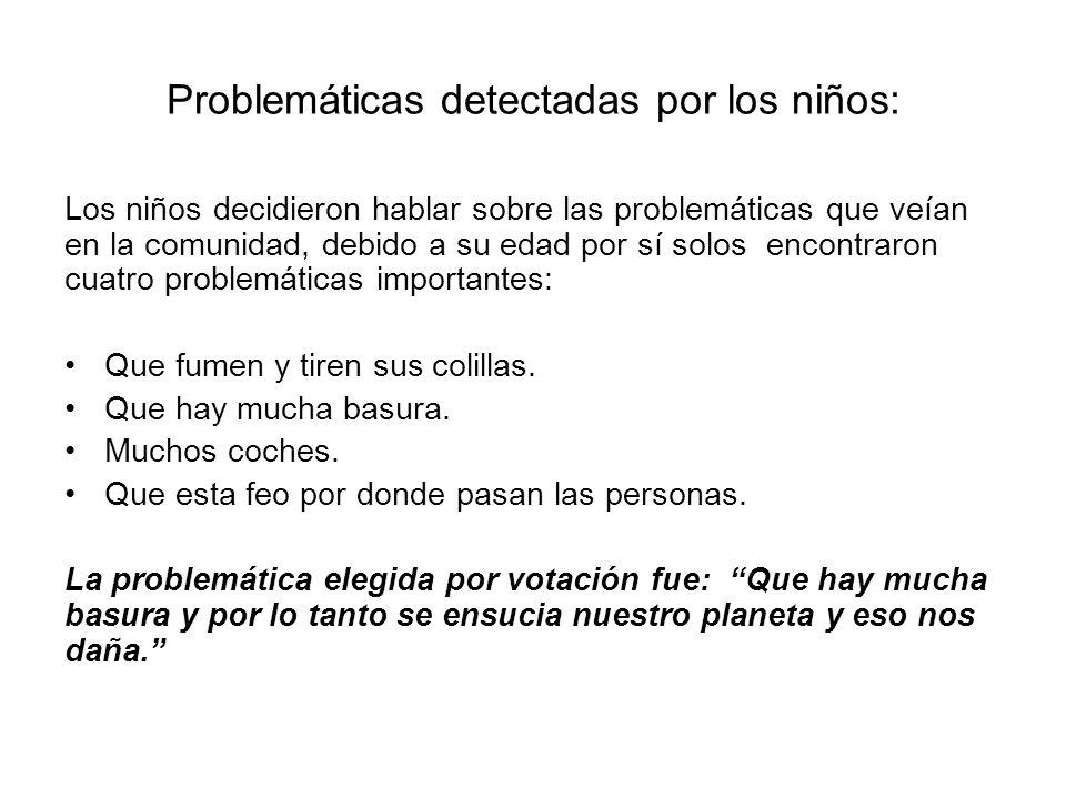 Problemáticas detectadas por los niños: