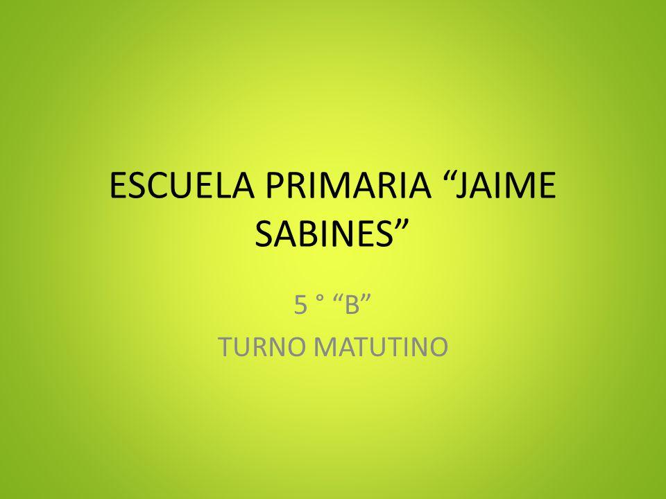 ESCUELA PRIMARIA JAIME SABINES