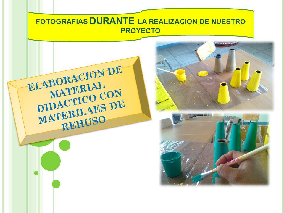 ELABORACION DE MATERIAL DIDACTICO CON MATERILAES DE REHUSO