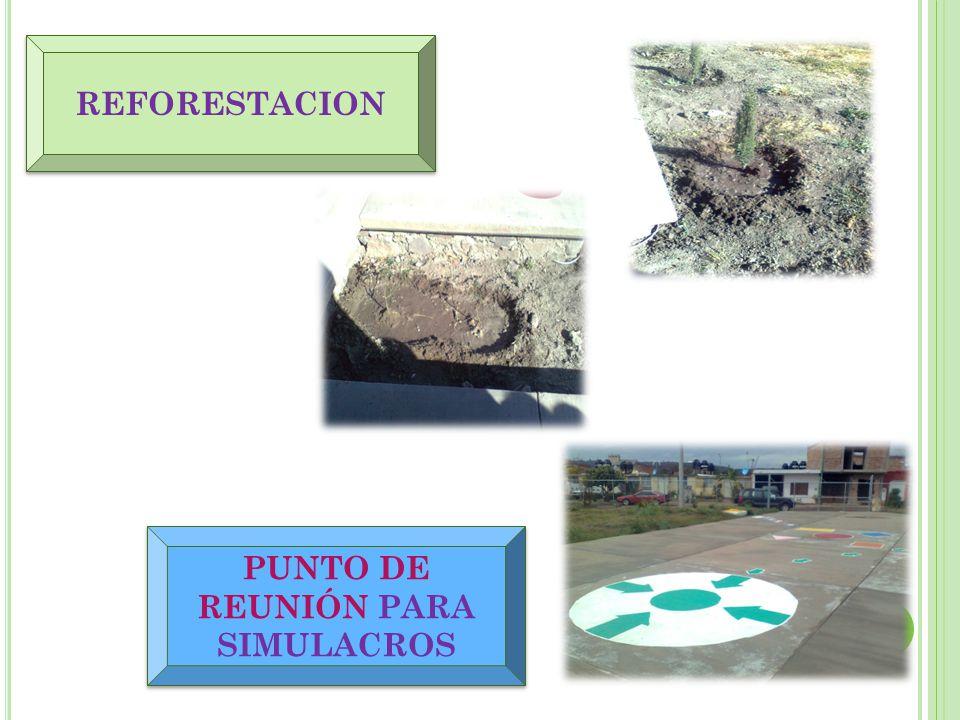 PUNTO DE REUNIÓN PARA SIMULACROS