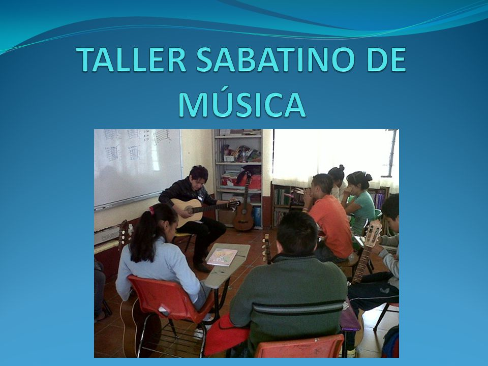 TALLER SABATINO DE MÚSICA