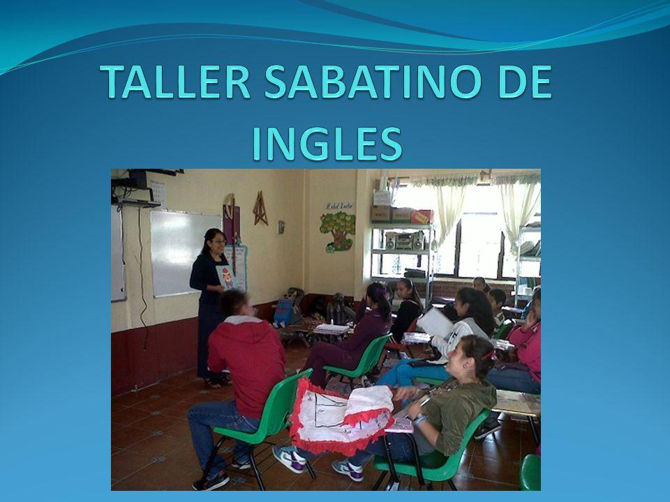 TALLER SABATINO DE INGLES