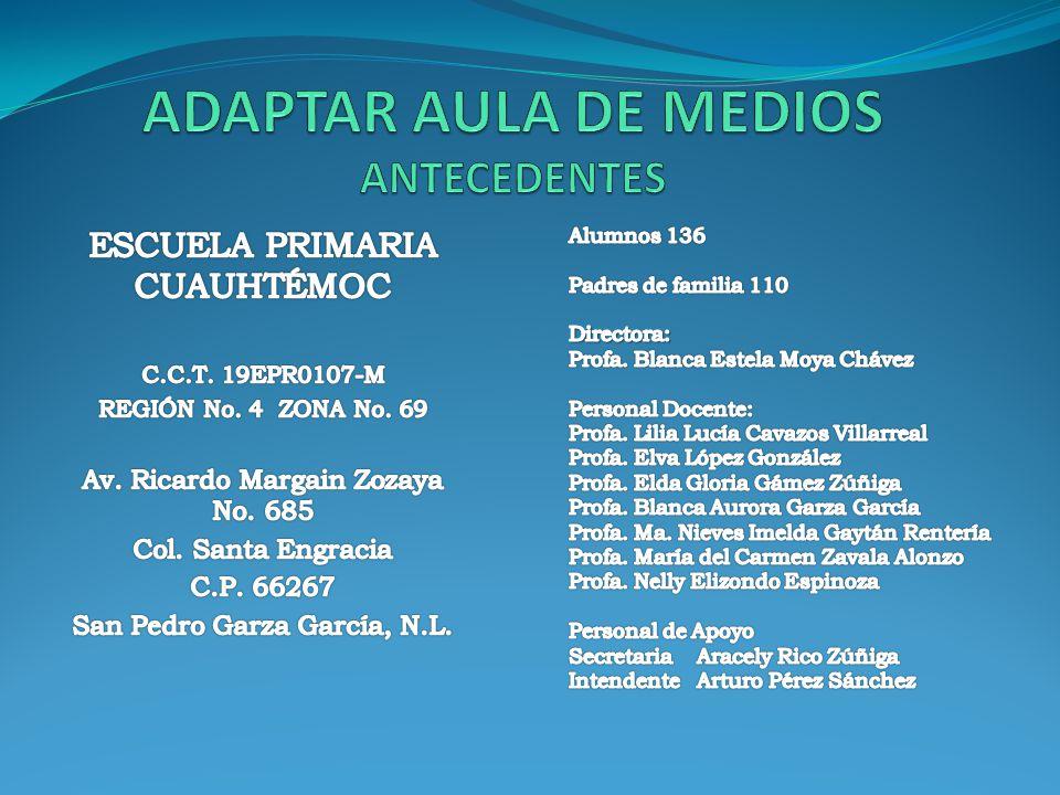 ADAPTAR AULA DE MEDIOS ANTECEDENTES