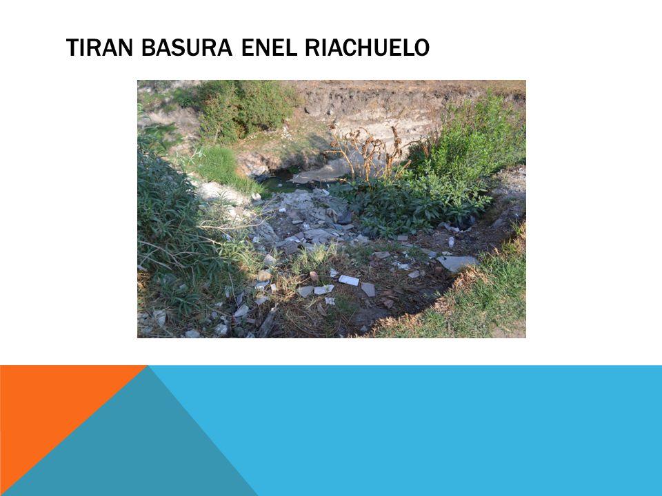 TIRAN BASURA ENEL RIACHUELO
