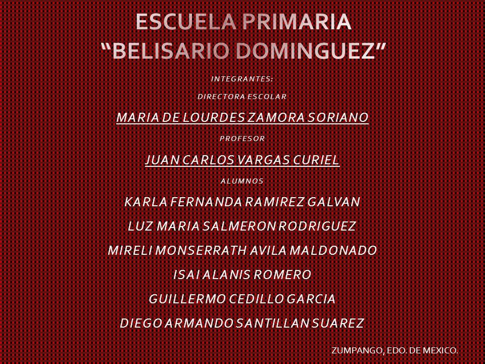 ESCUELA PRIMARIA BELISARIO DOMINGUEZ
