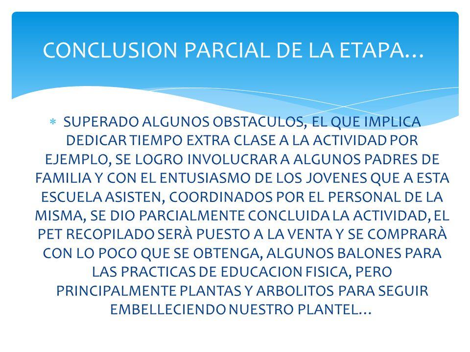CONCLUSION PARCIAL DE LA ETAPA…