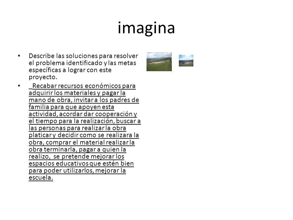 imagina Describe las soluciones para resolver el problema identificado y las metas específicas a lograr con este proyecto.