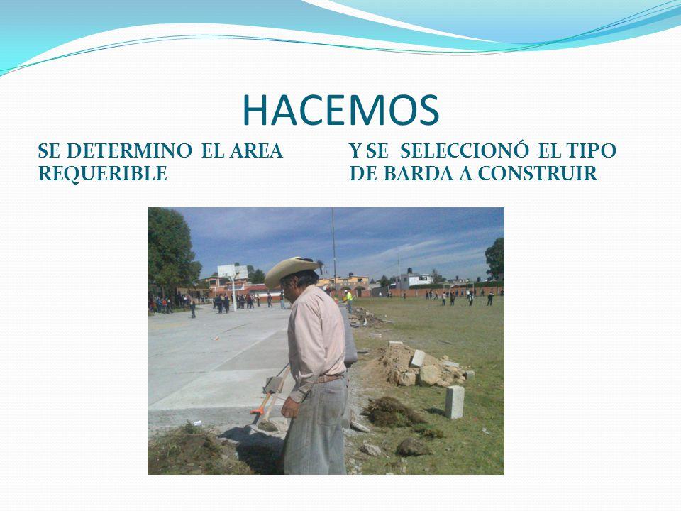 HACEMOS SE DETERMINO EL AREA REQUERIBLE