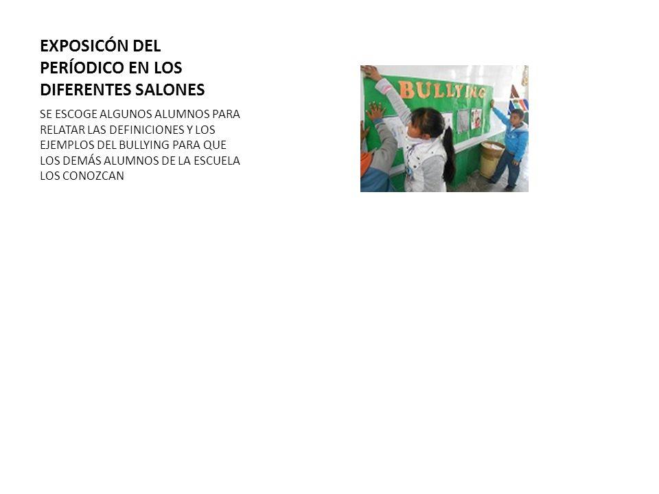 EXPOSICÓN DEL PERÍODICO EN LOS DIFERENTES SALONES