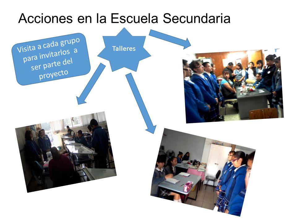 Acciones en la Escuela Secundaria