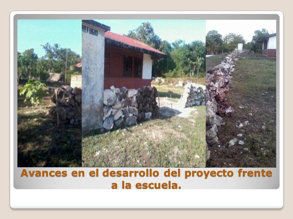 Avances en el desarrollo del proyecto frente a la escuela.