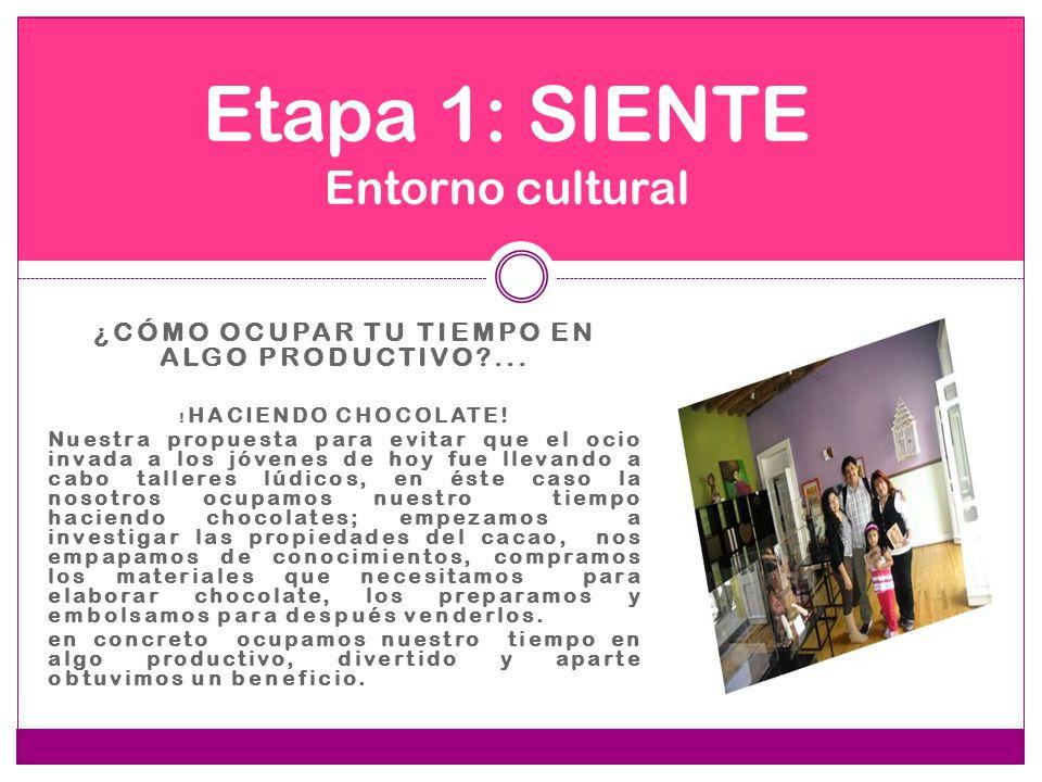 Etapa 1: SIENTE Entorno cultural