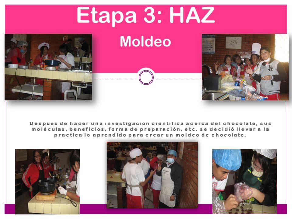 Etapa 3: HAZ Moldeo