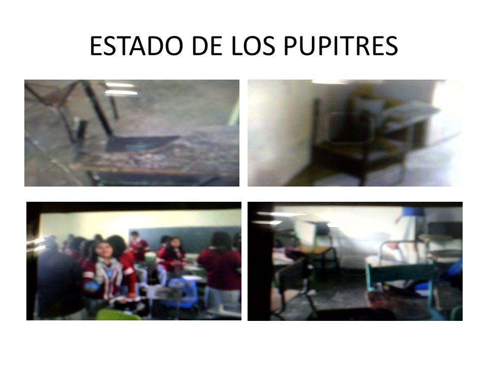 ESTADO DE LOS PUPITRES