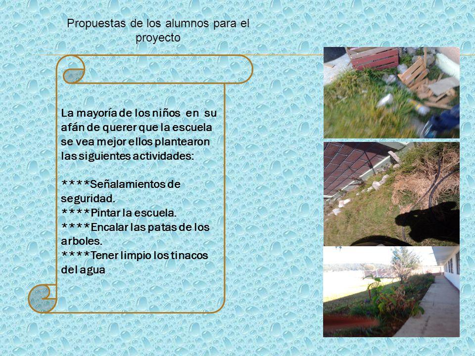 Propuestas de los alumnos para el proyecto