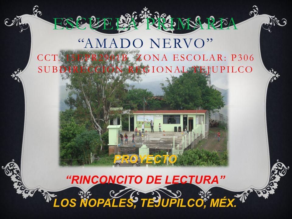 PROYECTO RINCONCITO DE LECTURA LOS NOPALES, TEJUPILCO, MÉX.