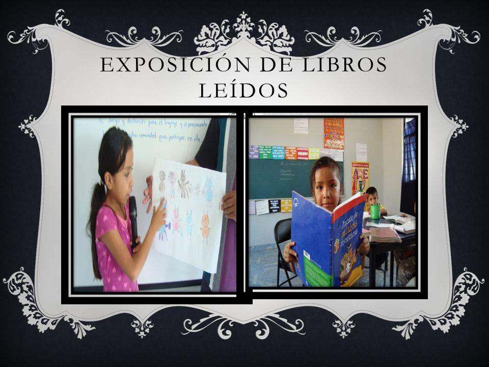 EXPOSICIÓN DE LIBROS LEÍDOS