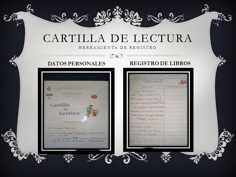 CARTILLA DE LECTURA HERRAMIENTA DE REGISTRO