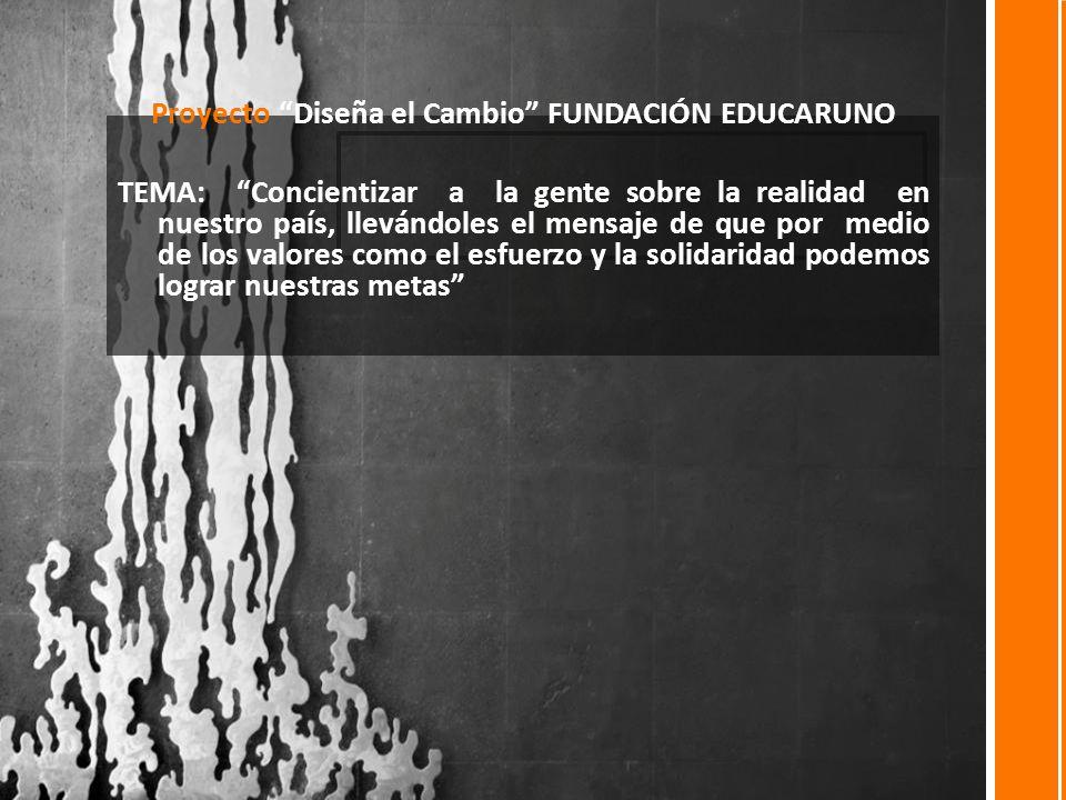 Proyecto Diseña el Cambio FUNDACIÓN EDUCARUNO
