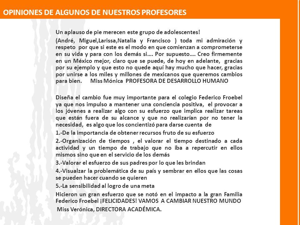 OPINIONES DE ALGUNOS DE NUESTROS PROFESORES