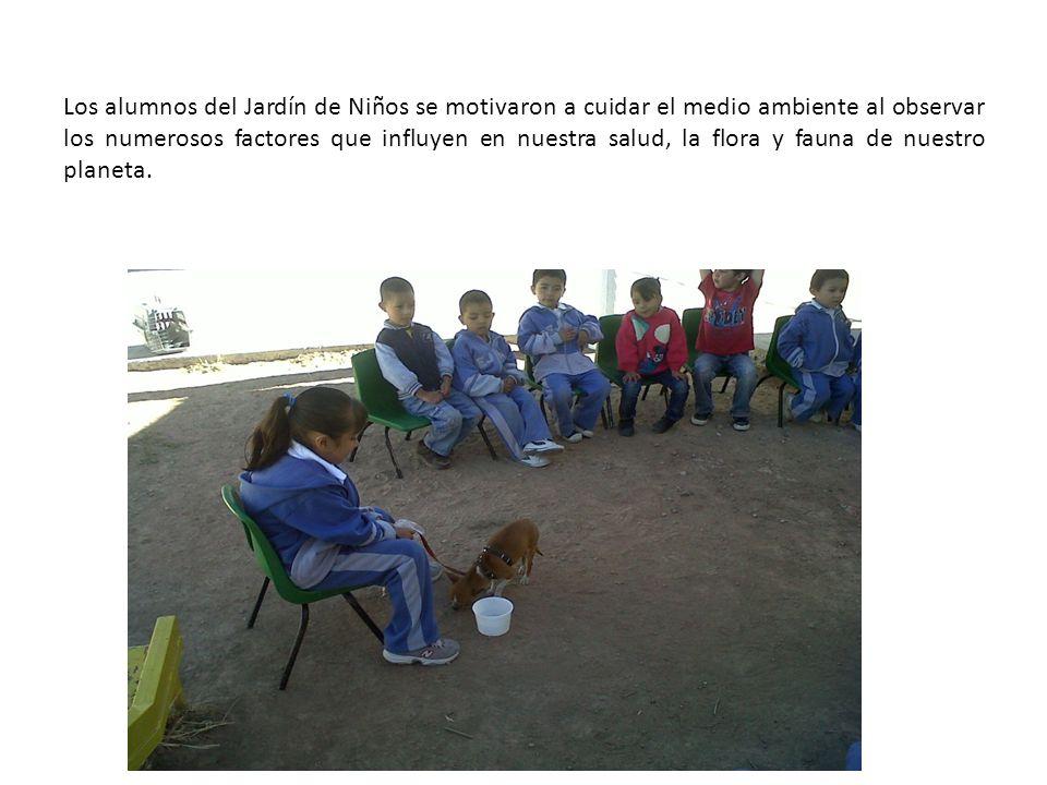 Los alumnos del Jardín de Niños se motivaron a cuidar el medio ambiente al observar los numerosos factores que influyen en nuestra salud, la flora y fauna de nuestro planeta.