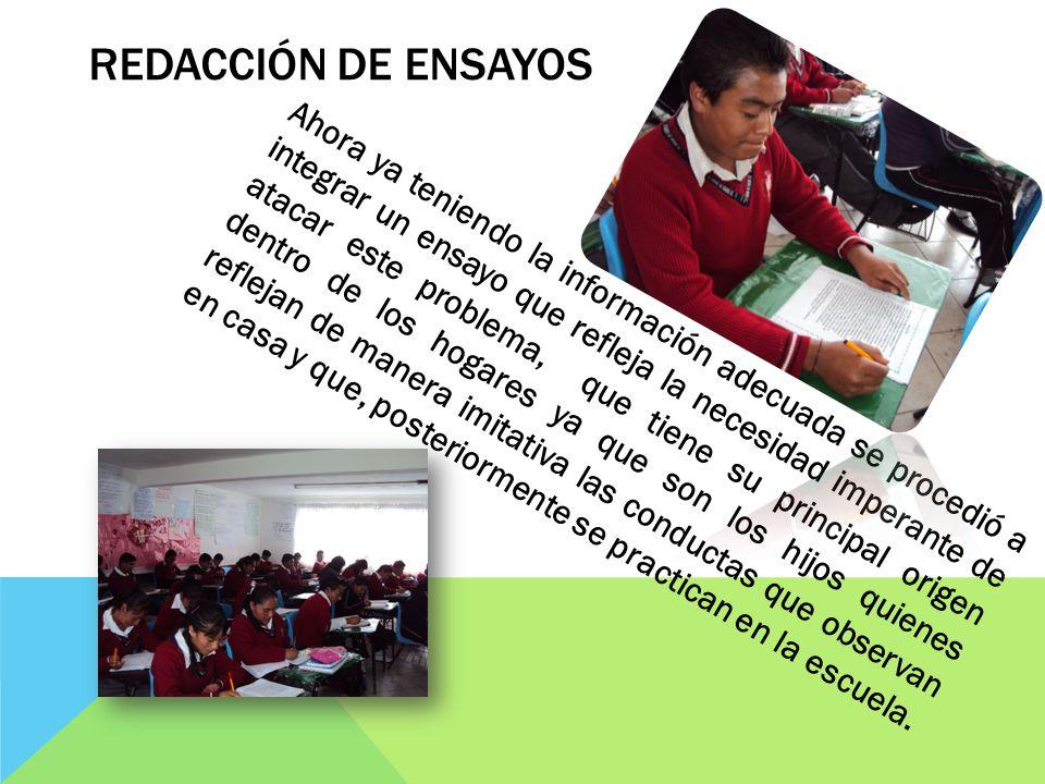 REDACCIÓN DE ENSAYOS